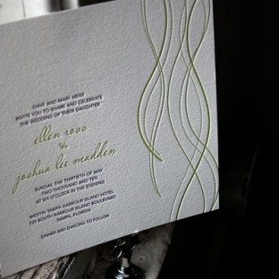 Lana Letterpress Wedding Invitations