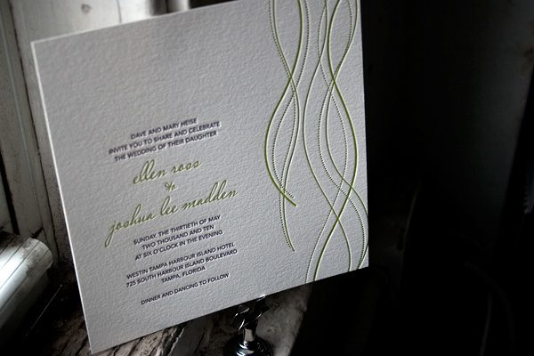 Lana Letterpress Wedding Invitations