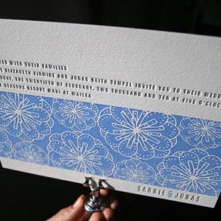 Nigella Letterpress Wedding Invitations