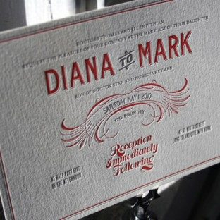 red-gray-retro-vintage-letterpress-wedding-invitations