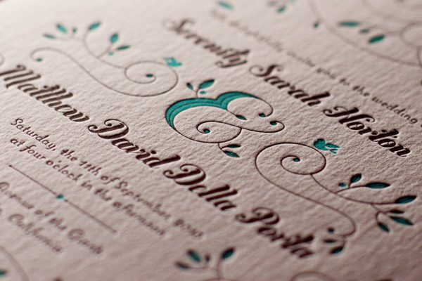hendrix letterpress wedding invitations - bella figura, Wedding invitations