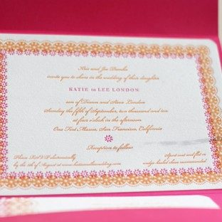 Bright_Fun_Letterpress_Pink&Orange_WeddingInvitation