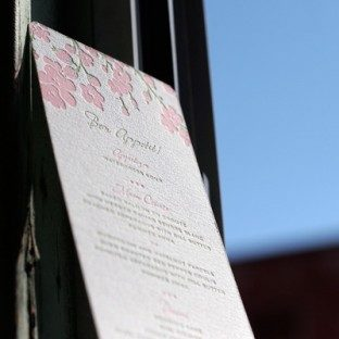 cherryblossom_lightpink&green_letterpress_Weddingmenu