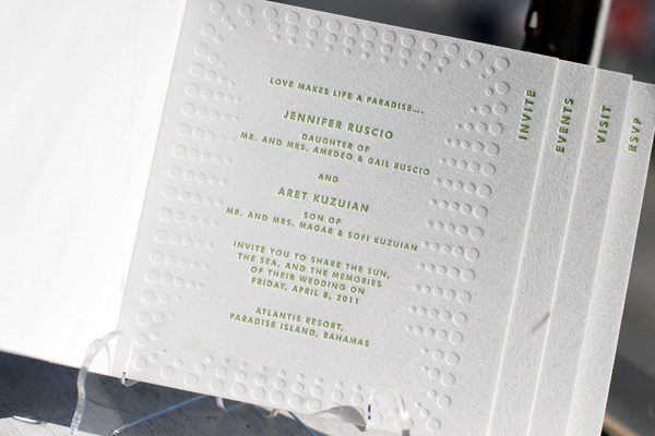 Wedding Invites Letterpress: Booklet Letterpress Wedding Invitations