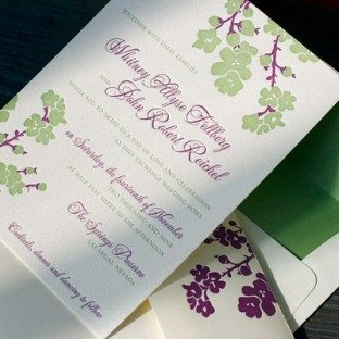 Purple&Green_JapaneseCherryBlossom_LetterpressWedding_Invitation2