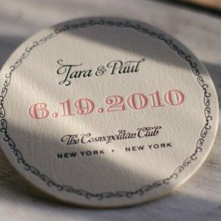 vintage_pink&black_letterpress_wedding_coasters