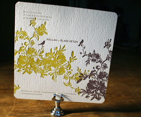 Best Letterpress Wedding Invitations: A New Year's Celebration