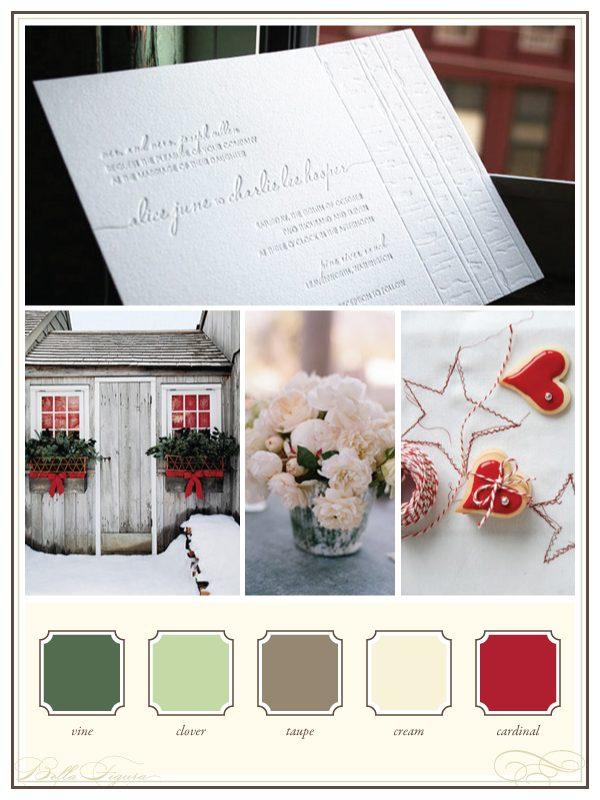 Christmas Wedding Colors.Wedding Color Palettes Birch Christmas Bella Figura