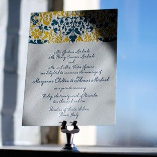 intricate_blue&yellow_letterpress_weddingannouncement