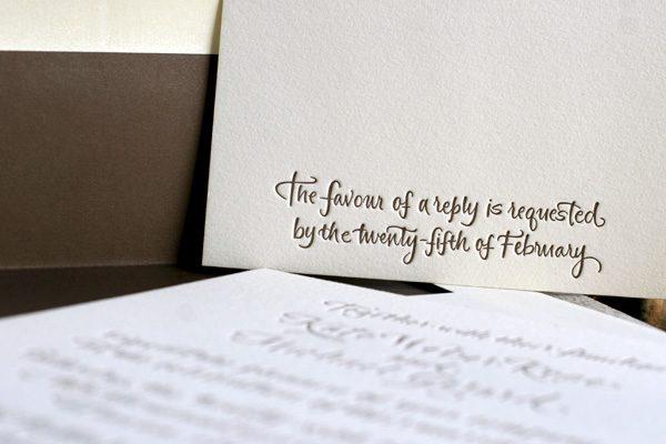Elegant Espresso Ivory Calligraphy Love Bella Figura