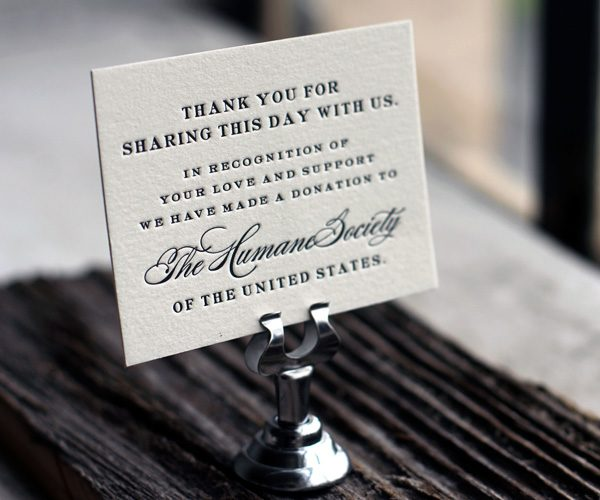 Spread A Little Love With World Minded Letterpress Favor Cards