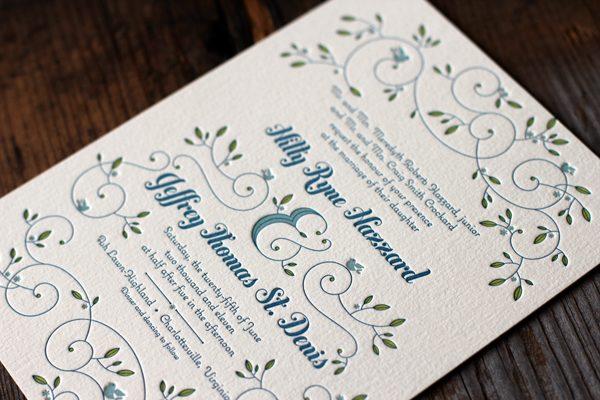 garden wedding elegance in 3 colors - Garden Wedding Invitations