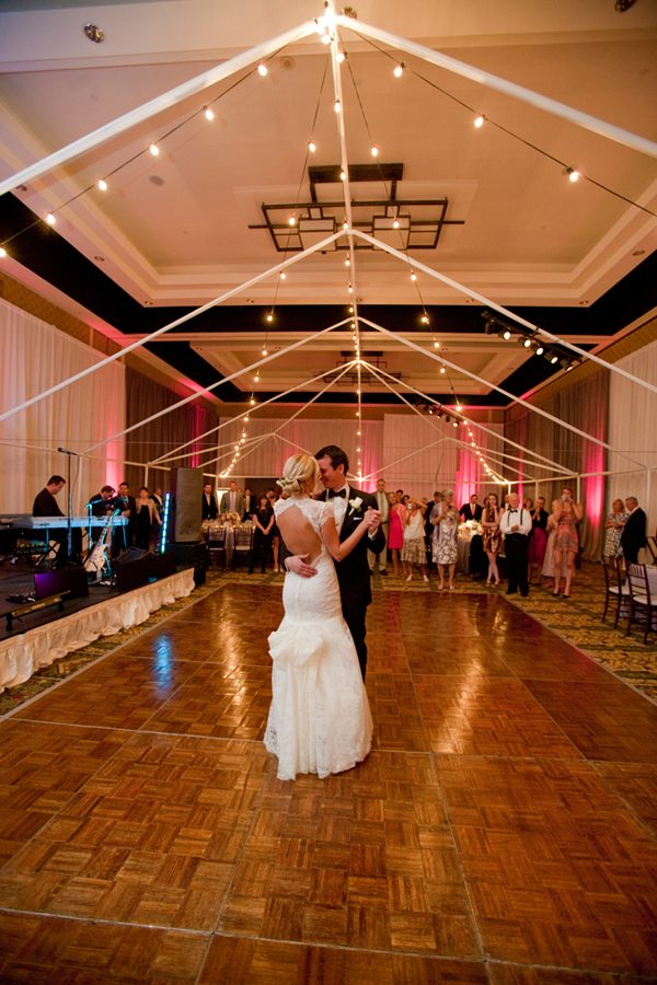 dance floor real wedding