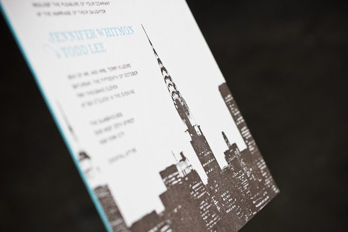 new york city letterpress wedding invitations