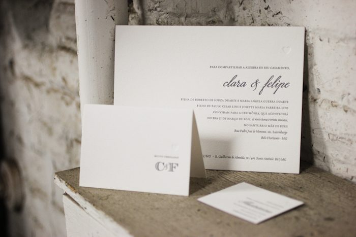 bilingual letterpress wedding invitations