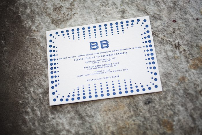 modern letterpress bar mitzvah invitations