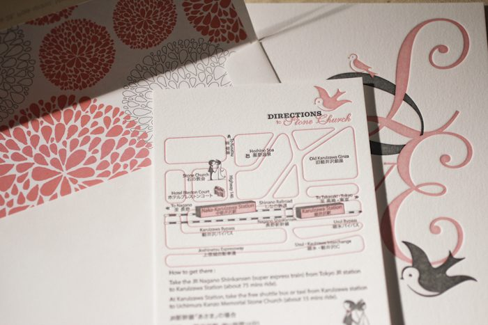 Design contest winner love in translation by the wedding company coupled with our modern canopy envelope liner this invitation set is the perfect match for such a romantic pair lovebirds unite stopboris Choice Image