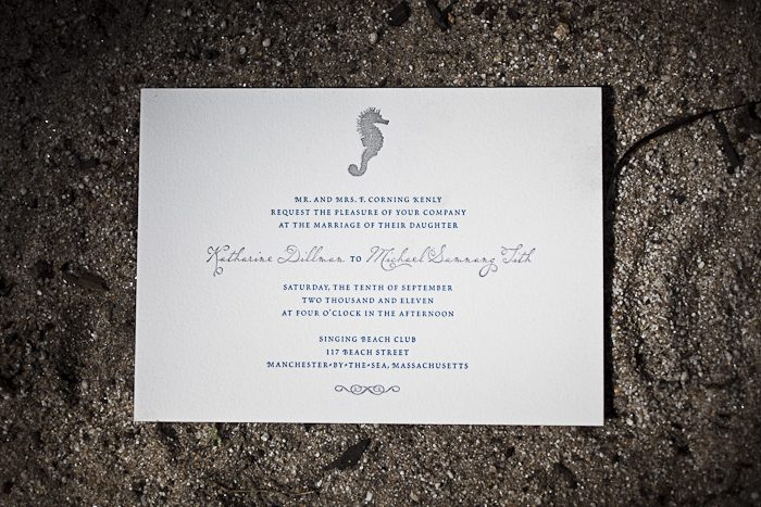 nautical letterpress wedding invitations