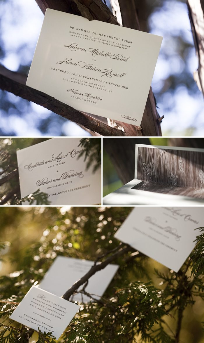 eco letterpress wedding invitations