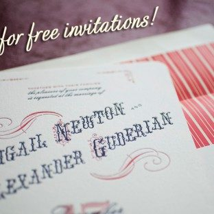 BellaFigura-Letterpress Invitations- Election day sale 2011