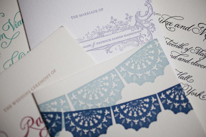 classic letterpress wedding programs