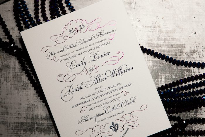 Pretty metallics will shine in 2012 -- foil stamping is now available from Bella Figura