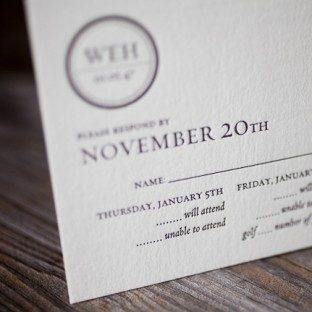 minimalistic letterpress birthday invitation