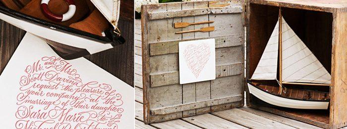 The Amor calligraphy design for Bella Figura