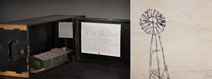 A modern, type based invitation from Bella Figura