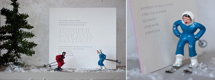 A popular and modern text-based letterpress invitation by Bella Figura