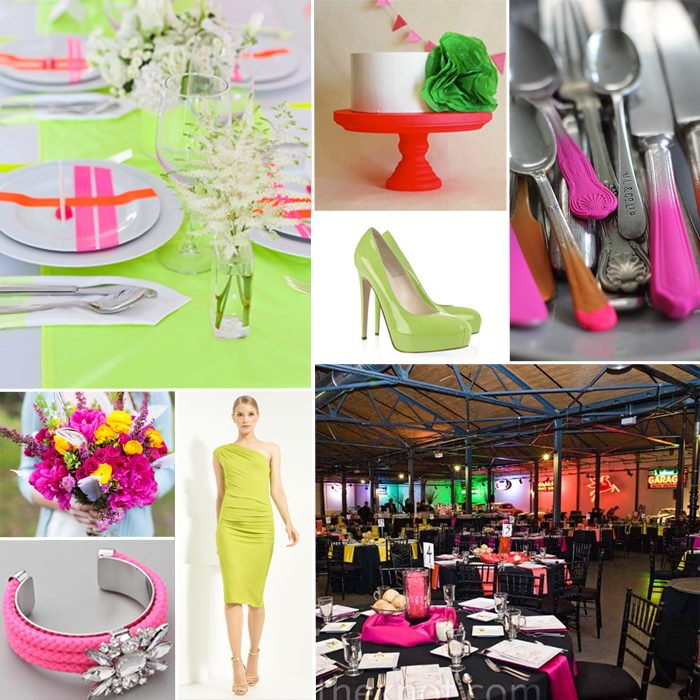 Bella Figura offers tips for how you can plan a wedding with neon accents -- a wedding trend that will be huge in 2012