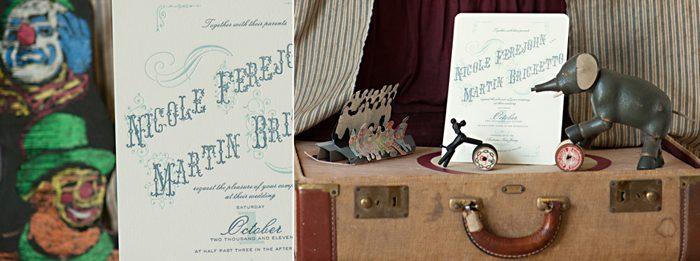 A circus inspired invitation from Bella Figura