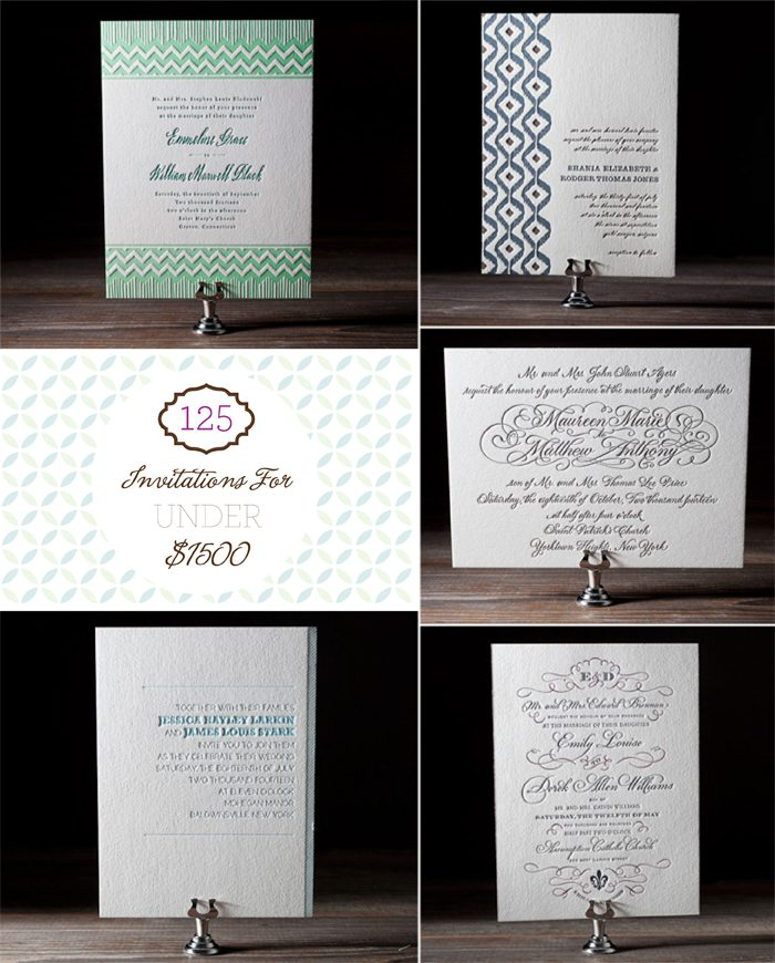 5 ways to order 125 letterpress invitations for under $1500 from Bella FIgura