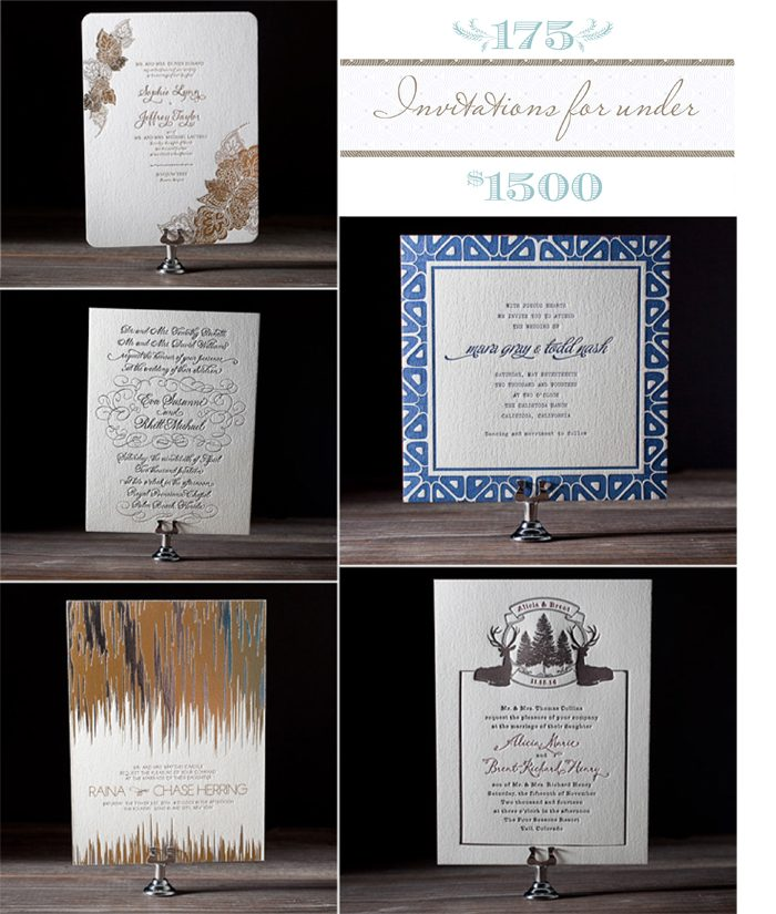 Bella Figura's tips for making 175 invitation sets fit into your budget of $1500 and under