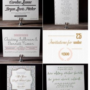 Pricing ideas from Bella Figura for an order of 75 letterpress invitations for under $1500
