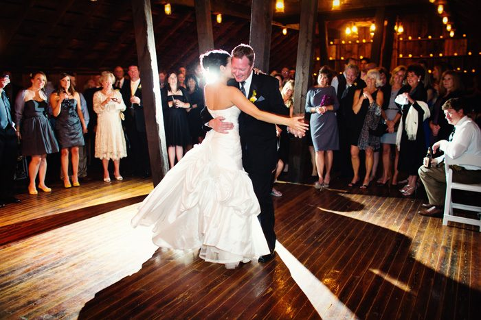 John and Jennifer Stark share the first dance at their September 2011 wedding