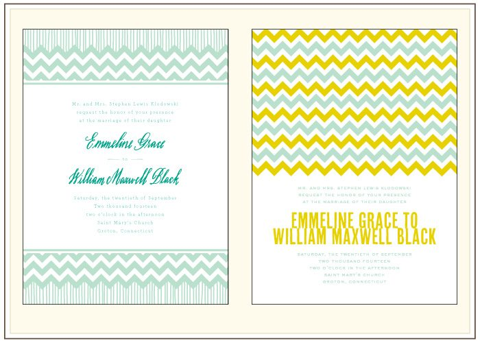 A before and after look at Classic Chevron, one of Bella Figura's new designs for 2012