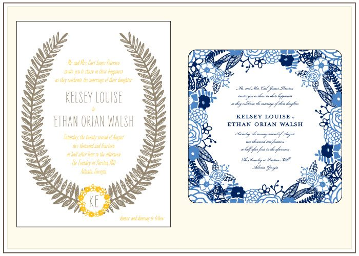 A before and after look at Bella Figura's letterpress invitation design, Rustic Jolene