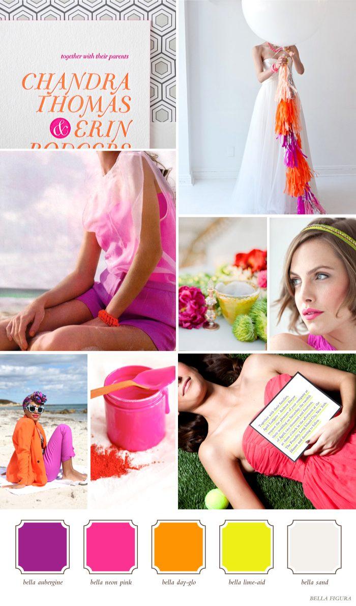 Unique and Bold color combinations for your wedding - Bella Figura