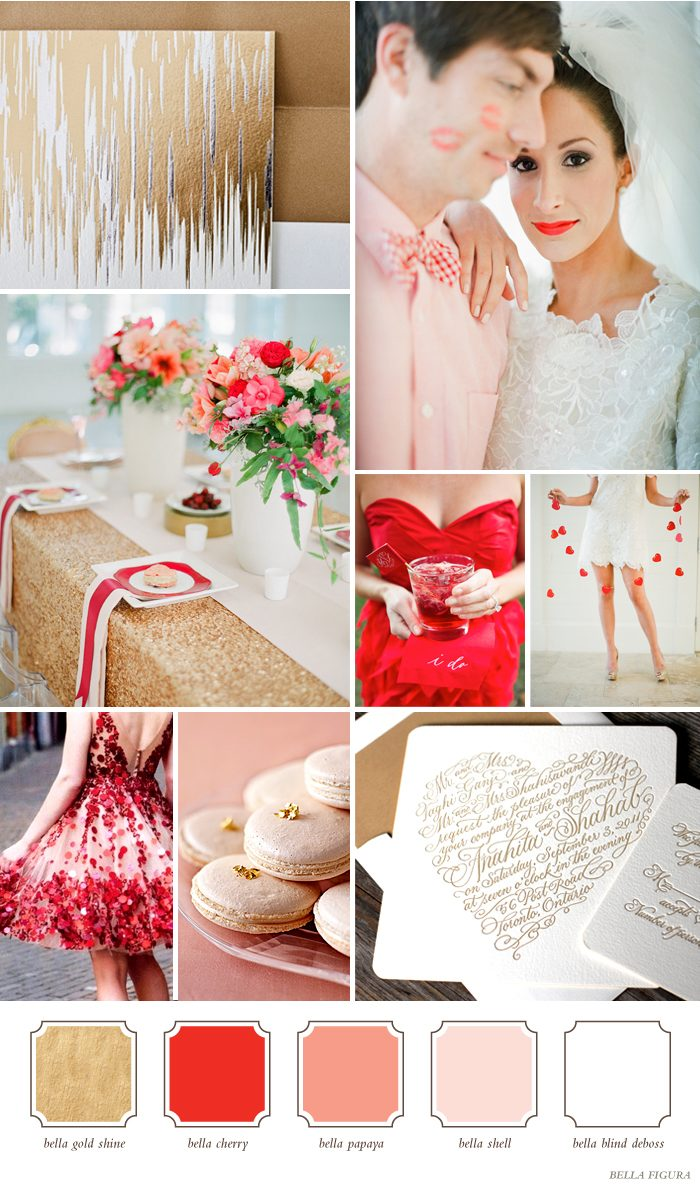 Unique and bold color combinations for your wedding Red and pink colour combination
