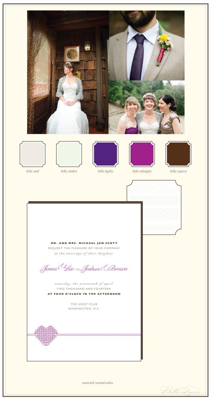 rustic letterpress wedding invitation ideas