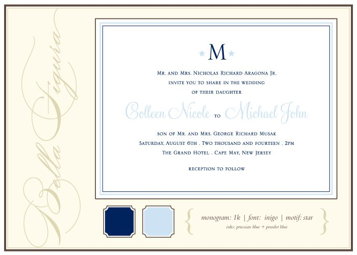 Bella Figura offers tips for how to pick the perfect monogram for your destination letterpress wedding invitations