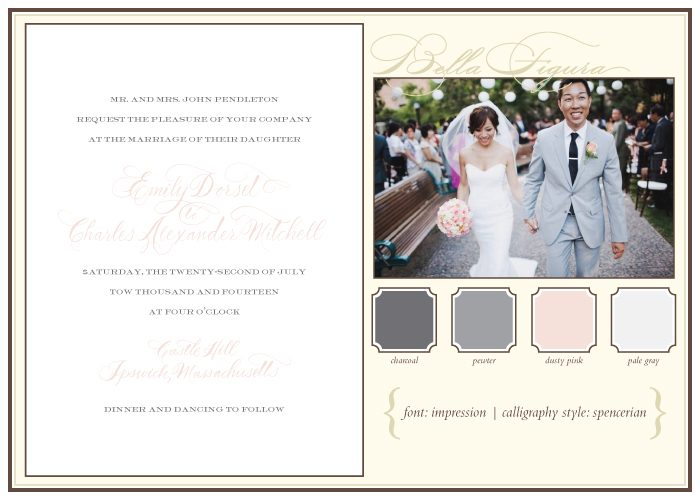 Bella Figura's recommendations for how to pick the perfect calligraphy style for your wedding invitations