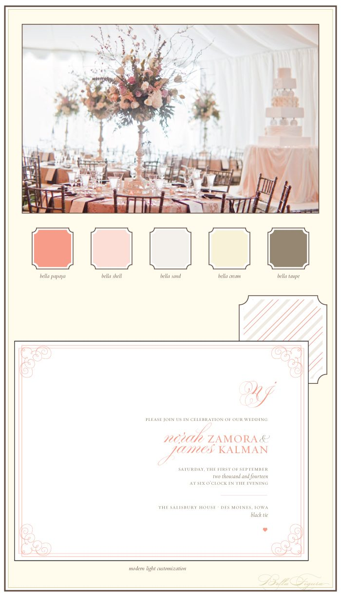 romantic and subtle letterpress wedding invitations