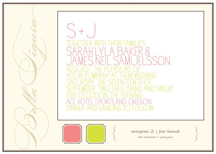 Bella Figura offers tips for how to pick the perfect monogram for your letterpress wedding invitations