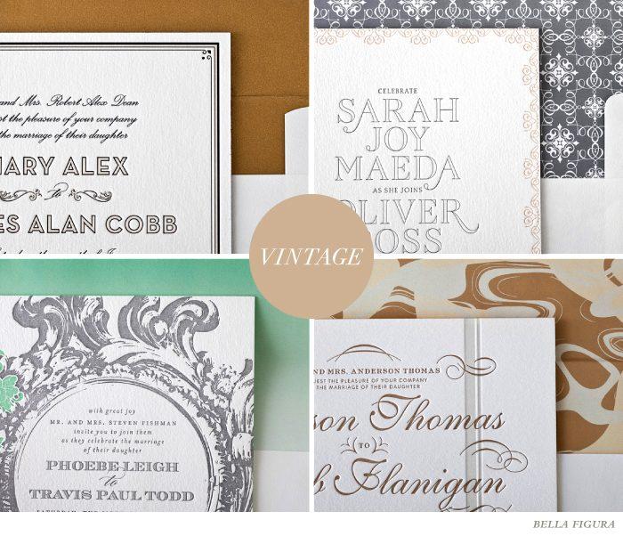 vintage wedding font inspiration