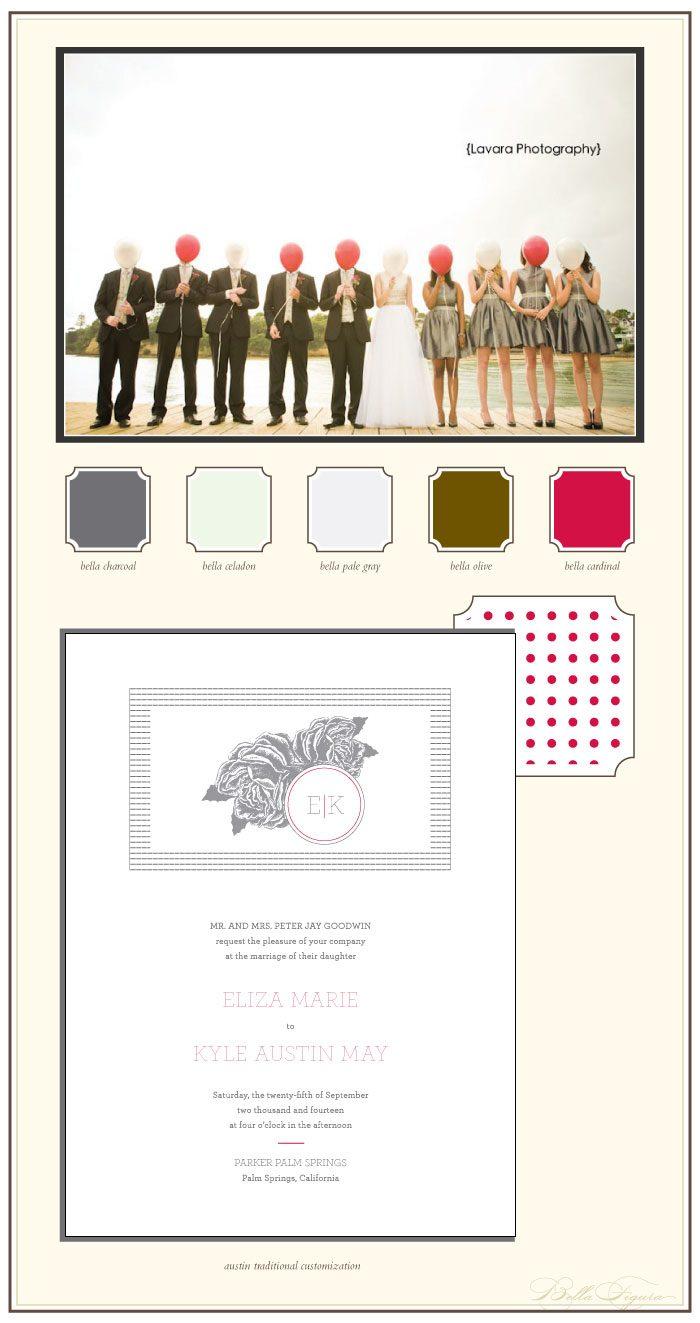 charming and sweet letterpress wedding invitations