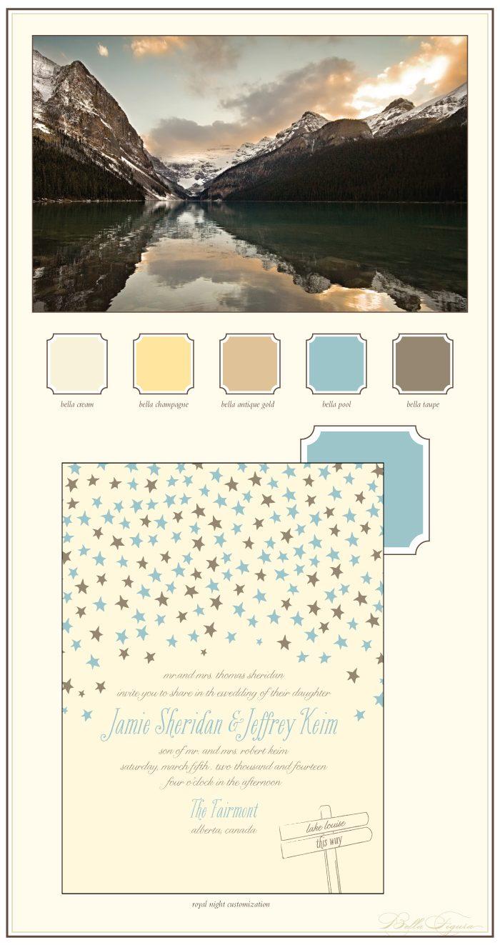 rustic letterpress wedding invitations