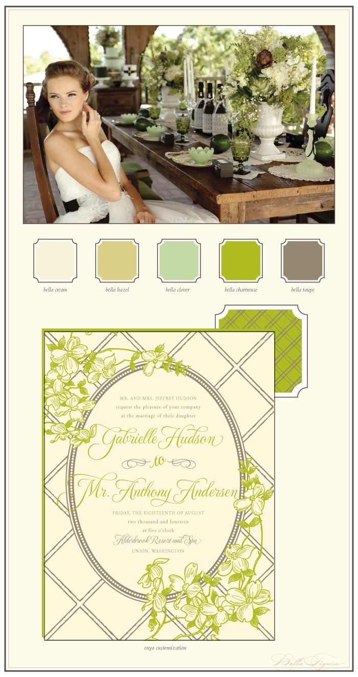 organic letterpress wedding inspiration