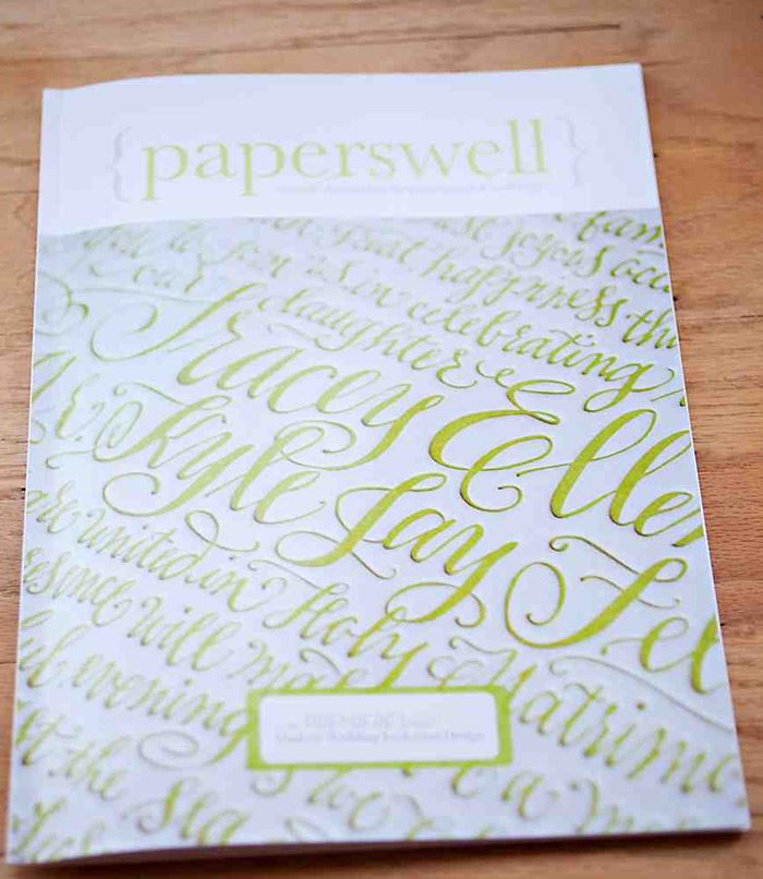 Paperswell, a new magazine by Bella Figura designer and calligrapher Kelle McCarter